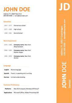 Resume templates windows vista